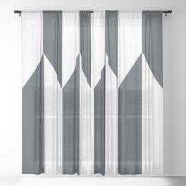 Navy arrows Sheer Curtain