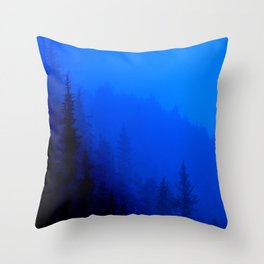 Blue Mist - Kenai Peninsula, Alaska Throw Pillow