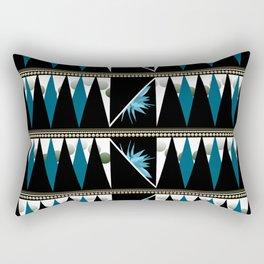 Blue Shapes Fanatasy Rectangular Pillow