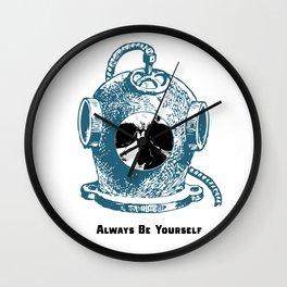 Always Be Yourself - Skull Deep Sea Diver Wall Clock