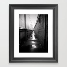 dead center Framed Art Print
