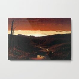 A Twilight in the Catskill Mountains by Sanford Robinson Gifford Metal Print