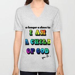 I am a Child of God-Style 2 Graphic Design Unisex V-Neck