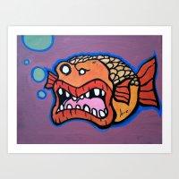 Bob the Goldfish Art Print