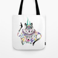 vogue Tote Bags featuring Vogue by Tania Orozco