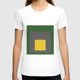 Block Colors - Green Grey Yellow T-shirt