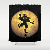 majora Shower Curtains featuring majora mask by neutrone