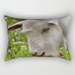 Goat A Load To Talk About Rectangular Pillow