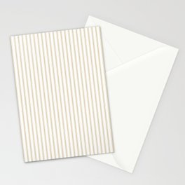 Christmas Gold and White Mattress Ticking Stripes Stationery Cards