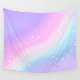 Kawaii Rainbow Magic Wall Tapestry