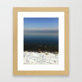 Lake Constance in February Framed Art Print