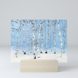Late Afternoon Snowstorm in the Forest Mini Art Print