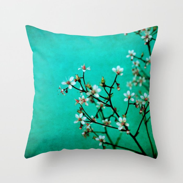 moody florets Throw Pillow