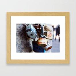 Love LockDown Framed Art Print
