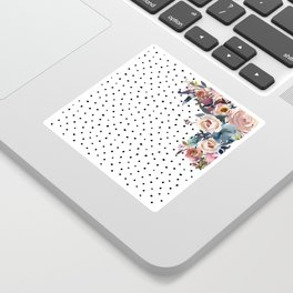 Boho Flowers and Polka Dots Sticker