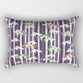Vintage Japanese Bamboo pattern Rectangular Pillow
