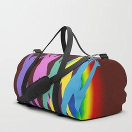 joyful man and rainbow . Art Duffle Bag
