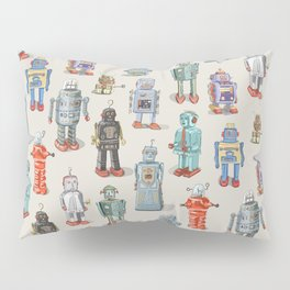 Vintage Style Robot Collection Pillow Sham
