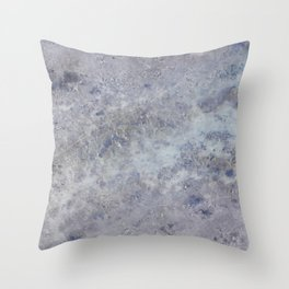Speckled Blue and Gray Marble Throw Pillow