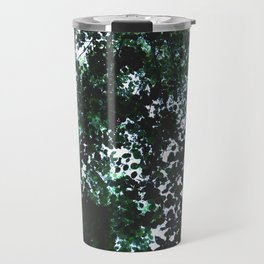 Tops of the leaves of trees silhouettes Travel Mug