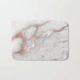 Rose Gold Marble Bath Mat