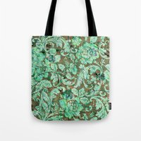 flower pattern Tote Bags featuring Flower pattern by nicky2342