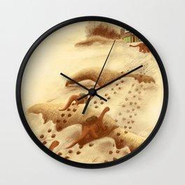 Dinosaur Migration Wall Clock