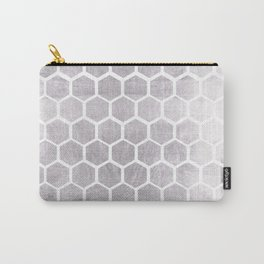 Silver bee cube Carry-All Pouch