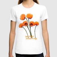 oriental T-shirts featuring Oriental Poppies  by LudaNayvelt