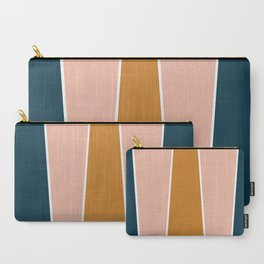 Retro Autumn Color Block Carry-All Pouch