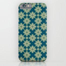 Petrol Mandala Pattern iPhone Case