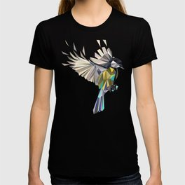 Flying Songbird Cyanistes Caeruleus Blue Tit Bird T-shirt
