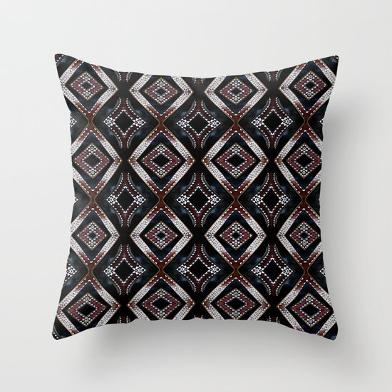 Pacific carve Throw Pillow