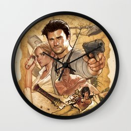 Uncharted Poster Wall Clock