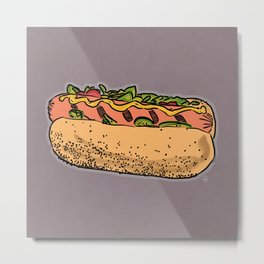 THERE'S ALWAYS TIME FOR A HOT-DOG! - LILAC Metal Print