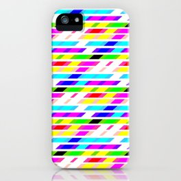 COLOURED STRIPES iPhone Case