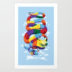 Stan, the Forgotten Luckdragon, and His Italian Skydog Skeletori Art Print