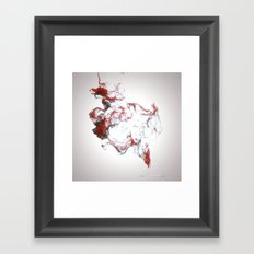 Ink dispersion Framed Art Print
