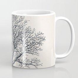 Winter Oak Tree Sketch Coffee Mug