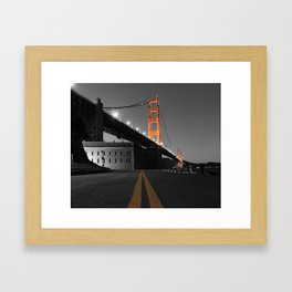 Down the Line to the Golden Gate Bridge and Fort Point Framed Art Print
