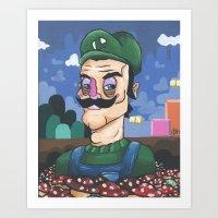 luigi Art Prints featuring Luigi by Cody Fisher