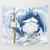 yeti Wall Tapestries featuring Yeti by Juan Pablo Cornejo