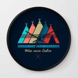 Nature Speak: Wise Man Listen Wall Clock