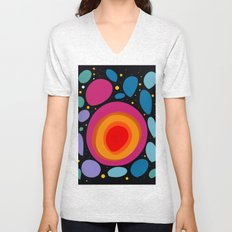 Galaxy Abstract Pattern Minimalist Decoration Unisex V-Neck