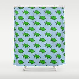 Cute Triceratops pattern Shower Curtain
