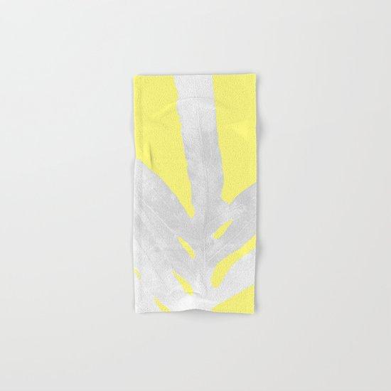 Green Fern on Lemon Yellow Inverted Hand & Bath Towel