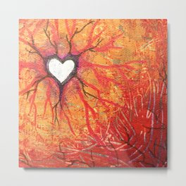 Rooted Heart Metal Print