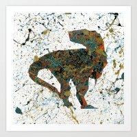 Jurassic Pollock Art Print