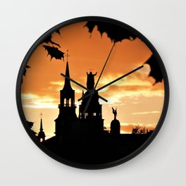 Sunset in Old Montreal Wall Clock