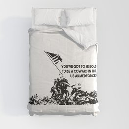 Raising Flag on Iwo Jima US Armed Forces Comforters